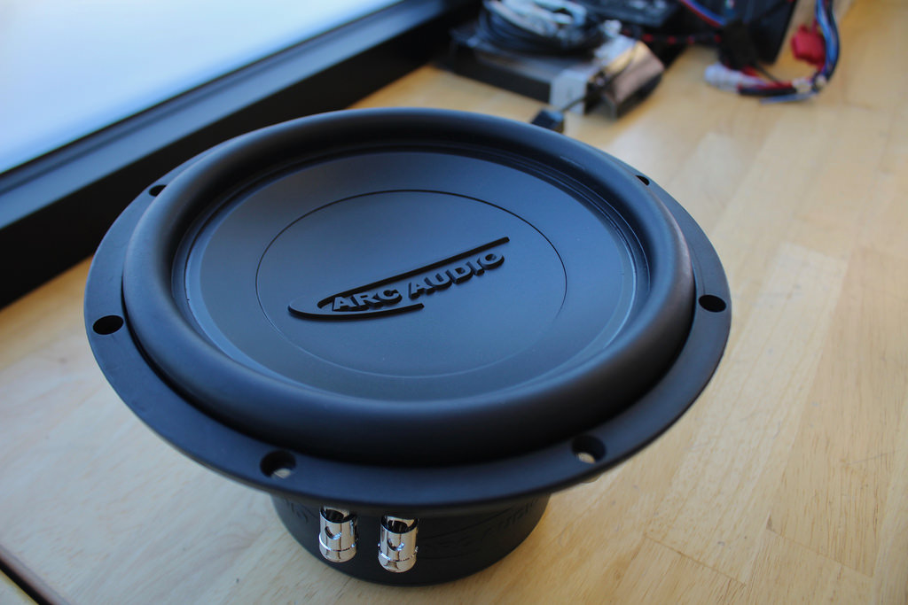 Arc Audio subwoofer Audi upgrade