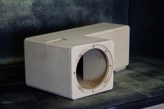 Subwoofer enclosure birch